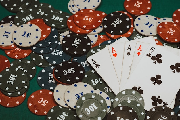 Four of a kind of aces in poker