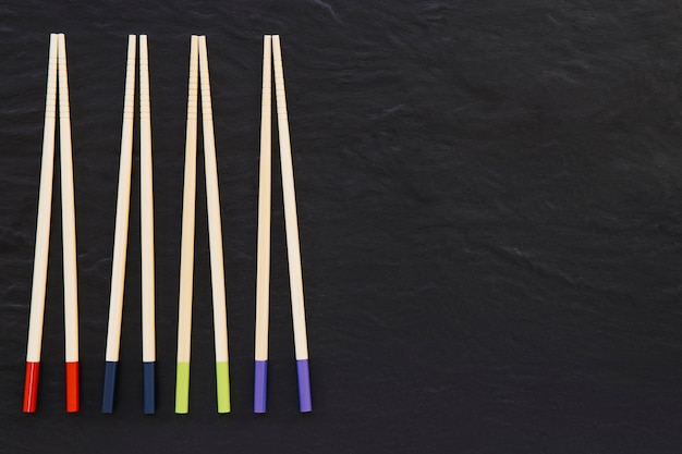 Four pairs of chopsticks