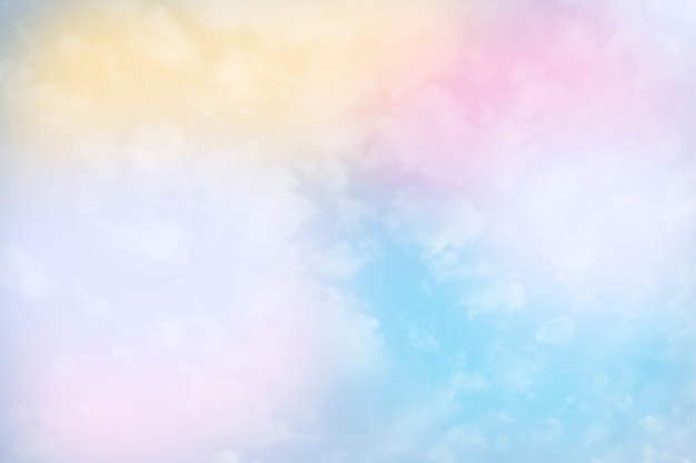 Four pastel color cloud and sky background with a pastel color