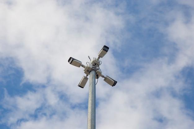 4대의 비디오 보안 카메라 보안 시스템