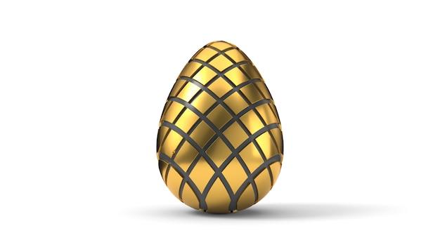 Fracturing and peeling easter egg. 3d illustration