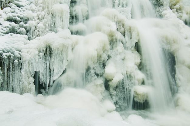 Fragment of a frozen waterfall