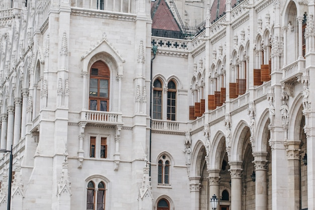 Fragment of hungarian parliament building