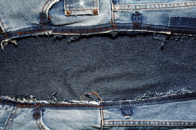 Fragment of jeans textures background
