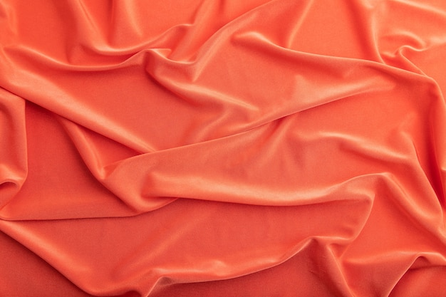 赤い絹の組織の断片