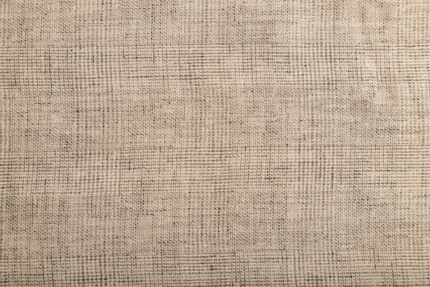 滑らかな茶色のリネン組織の断片