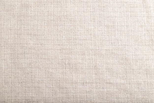 滑らかな白いリネン組織の断片。