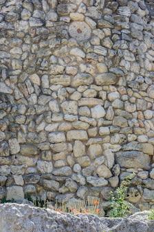 Фрагмент каменной стены древнего города
