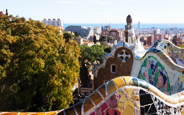 Fragment of park guell. barcelona