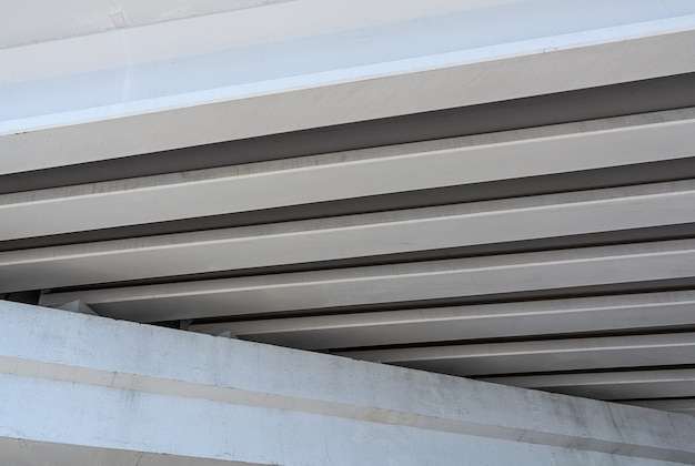 Fragment of the structure of a concrete highway bridges technologies and transport infrastructure