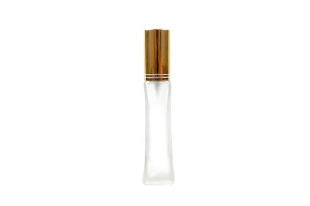 Fragrance bottles ,the bottle of perfume isolate on white surface