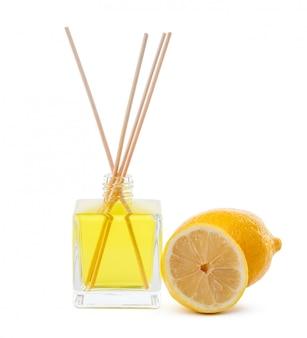 Fragrance sticks or bottle scent diffuser with lemon