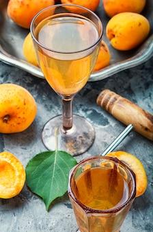 Fragrant apricot wine