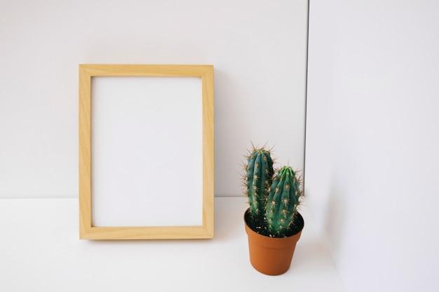 Рамка и кактус