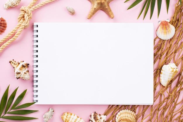 Frame around notebook