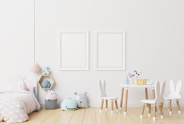 Frame blankin child room interior.