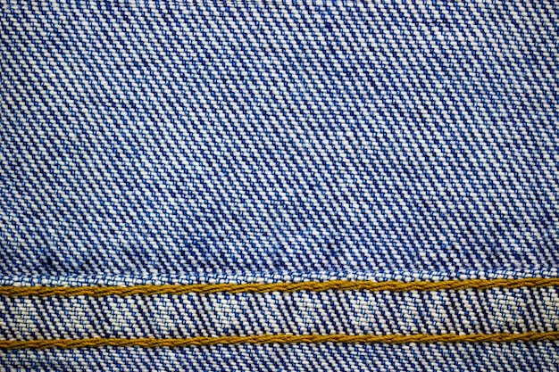 Frame or border of jeans fabric stitch. of vintage clothes or fashion.