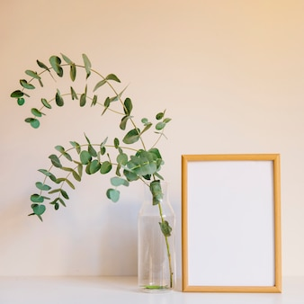 Frame next to branch in glass