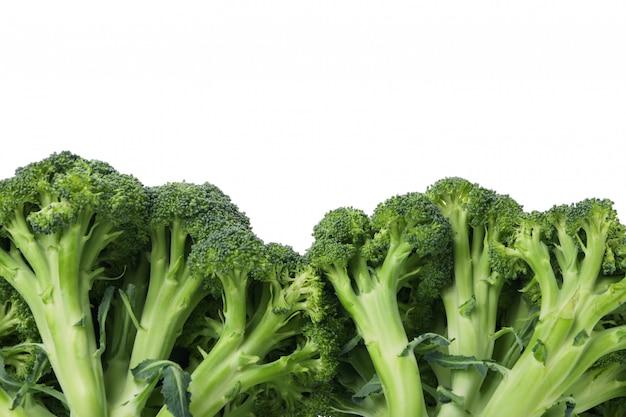 Frame of broccoli isolated on white. fresh vegetable