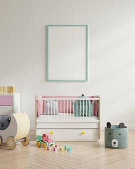 Frame in child room interior
