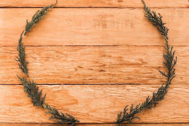 Frame of coniferous twigs