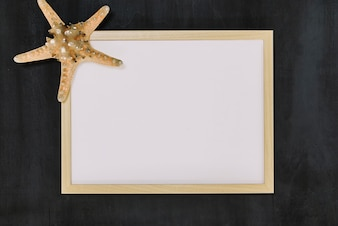 Frame decorated with starfish