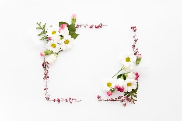 Telaio da giardino e fiori selvatici