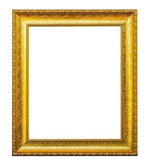 Frame gold patterned
