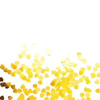 Frame of golden confetti, holiday  concept