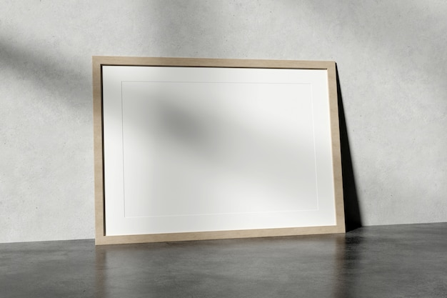 Frame on the ground of a room