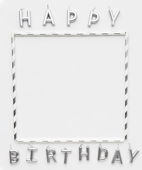 Frame and happy birthday message