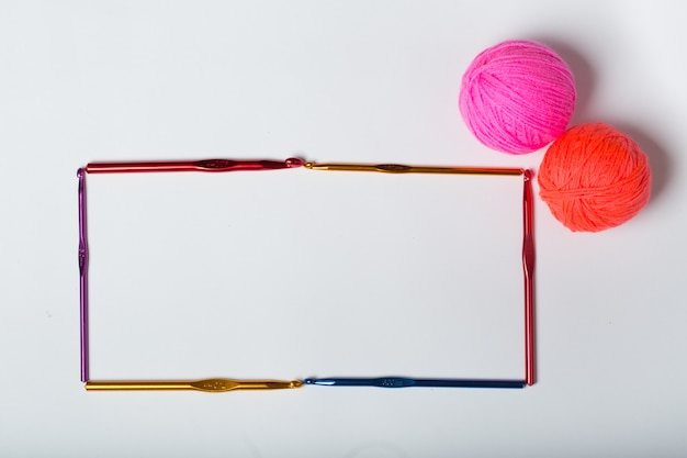 Frame hooks for knitting woolen goods