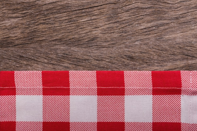 Frame of kitchen towels. on wooden texture.