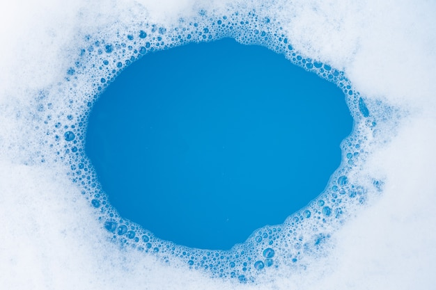 Frame made of detergent foam bubble