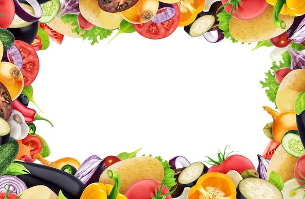 Каркас из разных овощей, трав и специй