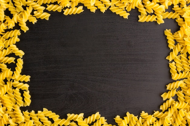 Frame made of pasta