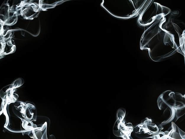 Frame made with smoke silhouettes