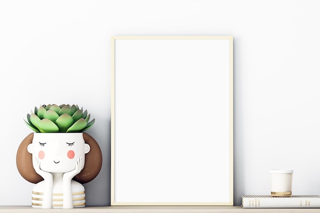 Frame mockup decor a4