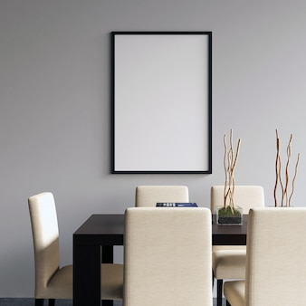 Frame mockup on dining room