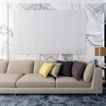 Frame mockup poster mockup living room