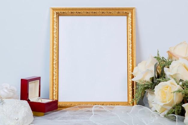 Frame mockup for wedding or celebrations anniversary