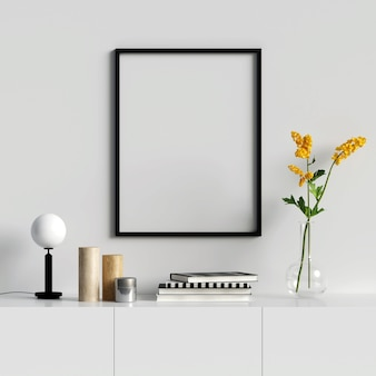 Frame Mockup with Beautiful Decorations