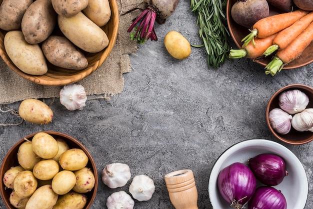 Frame of natural vegetables