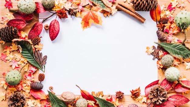 秋の要素のフレーム