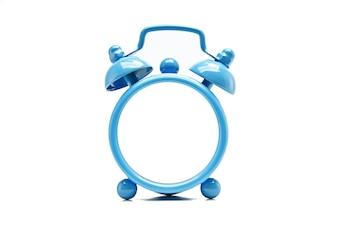 Frame of blue clocks