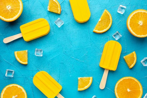 オレンジ風味のアイスクリームのフレーム