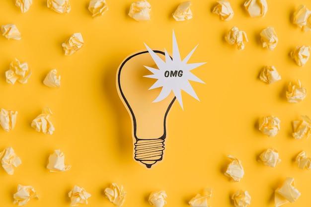 Рамка из мотолитовой бумаги с лампочкой