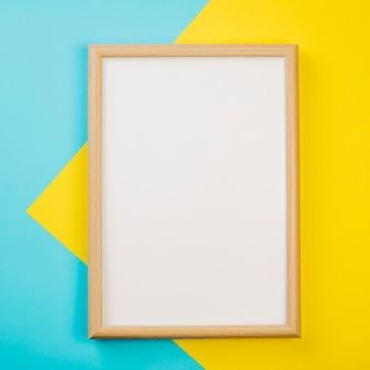 Frame on colorful background