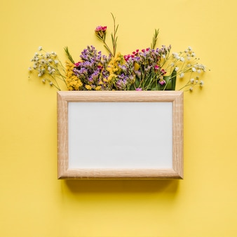 Frame on cute flowers