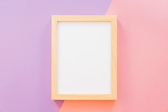 Frame on pink and purple background